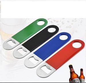 Apribottiglie 4 colori Breve foglio in acciaio inox in acciaio inox PVC Birra Birra BEVANDE BEVERAGE Apribottiglie di alta qualità Opener Kitchen Gadget LLS350