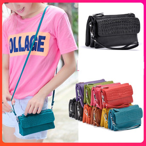 Multi-function Genuine Leather women zipper card designer wallets handbags real cowhide clutch bags