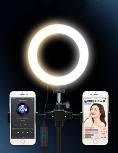 6-дюймовый светодиодные кольца Selfie Light Photography Light Light Phone Tower Holder Tripod Circle Fill Light Dimmable лампы Treegied Makeup