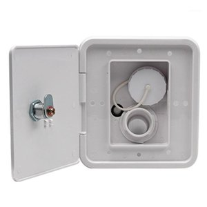 With Keys Screws Refit Accessories Integrated Fill RV Water Inlet Dish Hatch Lock Universal Easy Install Leakproof Gravity City1