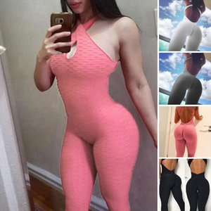 2019 New Cross Bandage Jumpsuit Sexy Sleeveless Solid Bodysuit Backless Casual Fitness Women Long Jumpsuit Drop Shipping