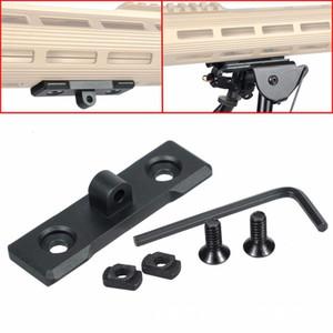 전술 M-Lok Bipod 마운트 어댑터 로우 프로파일 AR15 라이플 핸드 가드 사냥 액세서리 해리스 Bipod Picatinny Rail Sling Swivel
