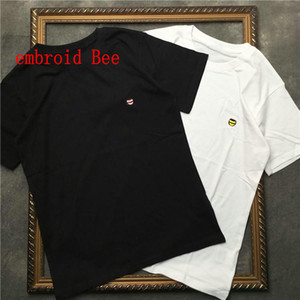 2020 new Summer Luxury Europe mens embroidery bee t shirt Top quality t shirts Fashion High Quality designer t shirt Women Street Casual tee