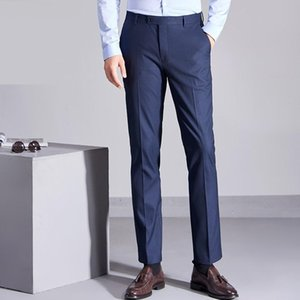 Summer Thin Dress Trousers Stretch Straight Slim Office Formal Suit Pants