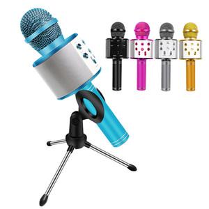 WS858 Microphone Bluetooth Wireless Mikrofon Music Player Mic With Tripod Storage Bag Bluetooth Microphone Singing Karaoke