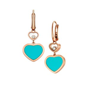 2020 New Gold-Plated Delicate 925 Silver Earrings Natural Stone Heart-Shaped Accessories Women High Sense Of Temperament Eardrop Y1130