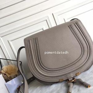 Mujeres Marca Famosa Moda Diseño Bolso Alta Calidad Genuine Piel de Cuero Cloe Cloe Mini Marcie Bag Shoulder Messenger Sillín Free Qynf 2ij2 +
