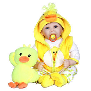 22Inch Silicone Reborn Doll Simulation Baby Dolls Soft Toddler Baby Toys For Girl Child Birthday Christmas Gift Drop shipping