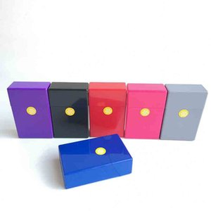 Full Pack 20 Pieces plastic Cigarette Case Storage Box Capacity Holder multiple colors Smoking Accessories Tool