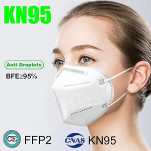 KN95 face mask FFP2 factory supply Protective 95% Filter Reusable Breathing 5 layer Respirator  face mask Adult retail package