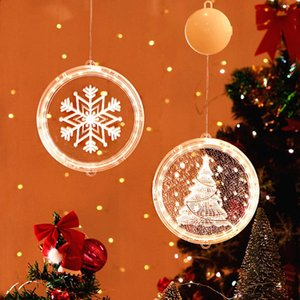 Christmas 3D LED Light Merry Christmas Decorations for Home 2020 Tree Ornaments Navidad Xmas Gift Happy New Year 2021