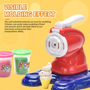 DIY 5D play house toy Plasticine pattern pressing mold Simulation Ice cream machine Creative kid birthday gift