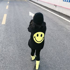 Kids Coats Thick Cotton Baby Girls Boys Jackets Children Girls Jacket Cartoon Smile Face Outerwear Winter Warm Baby