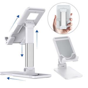 Masaüstü tablet tutucu masa hücresi katlanabilir uzatmak destek masası cep telefonu tutucu iphone iPad için standı ayarlanabilir