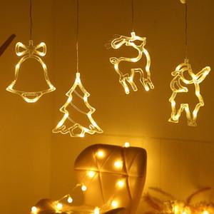 LED de sucção de Natal Luzes Luzes Boneco de Neve Decorações de Árvore de Natal Janela Luzes decorativas Xmas Creative Susping Lights Aha2417