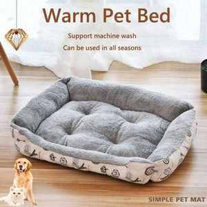 2020 baby soft large Pet Dog Bed Cat kennel Warm Cozy Dog House Soft Fleece Nest Baskets Mat Autumn Winter Waterproof Kennel