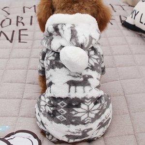 100% Cotton Print Cat Warm Puppy Kitten Jumpsuit Hoodie Coat Doggy Apparel Keep Winter Dog Pet Clothes