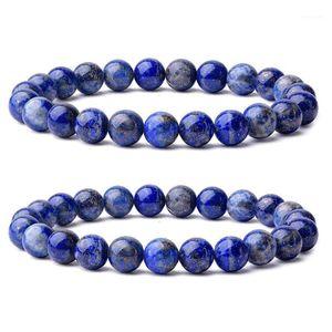 Imixlot Chakra Pulsera con cuentas Hombres Natural 8mm Precioso Lapis Lazuli Curación CRISTAL STRYTH STRENSE CALIENTE Pulsera Unisex JBA06651