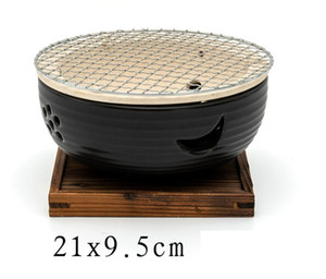 Japanese style charcoal barbecue grills clay oven hotel table mini clay bbq grill indoor heating stove brazier 144