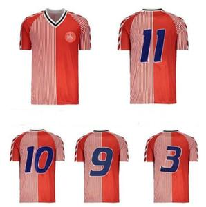 1986 Dinamarca Mundo Copa Mundial Retro Juego de fútbol 86 91 Dinamarca Equipo Nacional Michael Laudrup Elkjaer Berggreen Olsen Vintage Classic Football Shirt