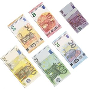 Nouveau 10 20 50 100 euros Fake Money Movie Money Money Faux Billets 20 EUR PLAY PLAYP Collection de monnaie et cadeaux