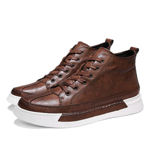 Fashion Black Men's leather casual flats shoes ng Shoes For Men NEW Brand High quality Sneakers flats %