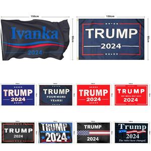 2024 الولايات المتحدة الانتخابات العامة 90 * 150CM ترامب العلم 2024 ترامب 2024 العلم الانتخابات الرئاسية 10 نمط يمكن اختيار XD24220