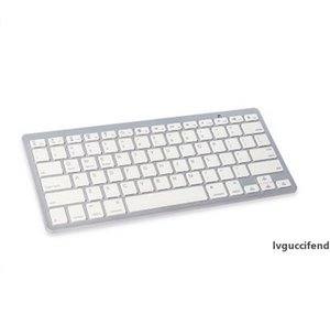 Novo Teclado Bluetooth Sem Fio Três Sistema Telefone Plano Teclado Geral Ultra-fino Mini Office Silent Keyboard Sem Fio