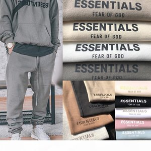 Fear Of God Sweatpants FOG Essentials Sweat Pants Mens Casual Long Fleeced Pants Trousers Men Women Hip Hop Skateboard Streetwear