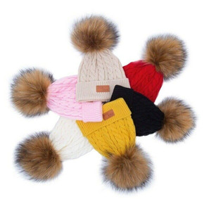 PUDCOCO 2020 New Toddler Kids Girl Boy Baby Infant Winter Warm Crochet Knit Kids Hat Beanie Pom Pom Caps