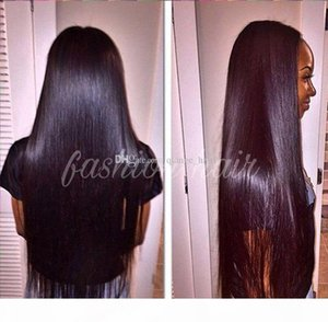 7A Silky Straight Human Brazilian Virgin Hair Full Lace Wigs For Black Women,Unprocessed brazilian straight hair full lace wig