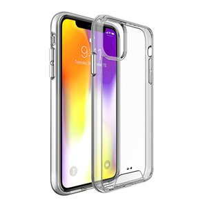 Premium SPACE Transparent Rugged Cell Phone Case Clear TPU PC Shockproof Cover For iPhone 11 XR XS MAX Samsung Galaxy Note 10 Note 10 Plus
