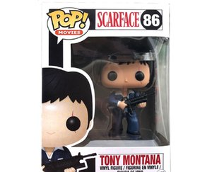 PVC день рождения Scarface POP 86 # для Tony Funko Collection Pigure Toys Montana Новые подарки EQGFT