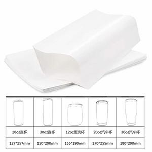 Beyaz Süblimasyon Shrink Wrap Film Wrap Kollu Süblimasyon Şişeleri Için Isı Baskı Tumbler Kupalar için Shrink Sarma