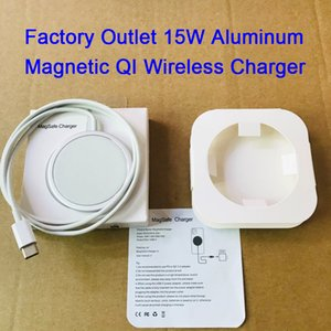DHL shipping 15W Aluminum Magnetic QI Wireless Charger Fast Charging with OEM package For Phone 12 Pro Max mini