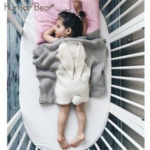 Mizah Bear Yeni Battaniye Örme Halı Sevimli Tavşan Yün Moda Çocuk Yorgan Q1121