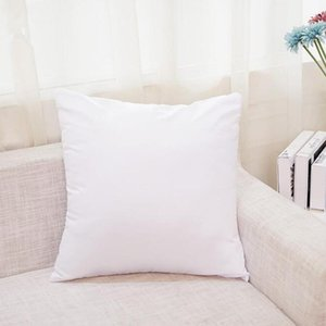 Sublimation 45*45cm Square Pillowcase DIY Blank Pillow Cover Heat Transfer Sofa Pillow Cases without insert polyester Throw Pillow covers