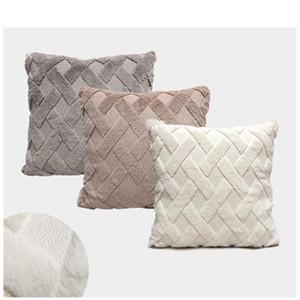 Pillow Cover home decor soft flannel Velvet plaid Cushion Covers body Pillowcase Decorative Sofa Throw Pillows Polyester 45*45cm