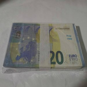 20 Festival Billet Copy Money Faux Prop Collections Toy Party Children Presents Bar Stage Trick Atmosphere Euro Banknote Cur Thhqc