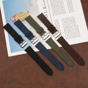 22m m de reloj de cuero de nylon para ajuste Breitling Strap Avenger / Navitimer pulsera azul verde negro marrón