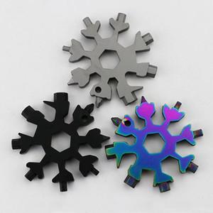 Factory direct Keyring Wrench EDC multi-purpose tool card hexagon octagonal multi-purpose wrench key chain key pendant