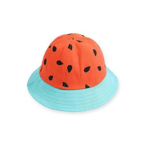 Children's Hat Watermelon Fisherman Hats Men and Women Baby Sunshade Sun Hat Cap Travel Fruit Parenthood Hat DDD4298
