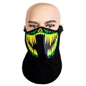 mask Christmas Halloween face mask  LED luminous masks EL cold light motorcycle luminous facemask Cosplay DDC3325