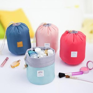 Cloth Portable Wash Storage Bag with Brush Case Drawstring Multi Pocket Design Storage Bags Travel Cosmetic Pouch Organizer