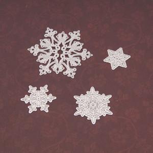 4 قطعة / المجموعة ندفة الثلج قطع يموت عيد الميلاد المعادن قطع يموت الإستنسل يموت قطع ل diy سكرابوكينغ الألبوم ورقة بطاقة النقش HH9-3656