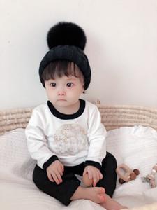 Abbigliamento per bambini neonato di alta qualità Abbigliamento neonati Ragazze Girls Cartoon Pagliaccetti Stile Manica Lunga Manica Bambini Baby Boy Boy Girl Vestiti