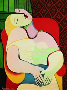 Pablo Picasso Dream Dream Home Decor Pays peinture à l'huile HD imprimé sur toile Toile Art Toile Photos, F201127-6