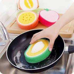 Esponja de engrosamiento de la fruta para limpiar el paño de la microfibra Paño de plato de tela al por mayor fuerte descontaminación plato toallas IIF116