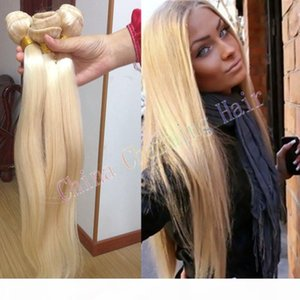 cheap platinum blonde weave 100% unprocessed russian 613 blonde straight human hair extensions 8-30inch 3 bundles sale