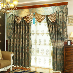 The New High-grade High-precision Light Blackout Blinds Jacquard Curtains European Luxury Living Room Curtains Bedroom